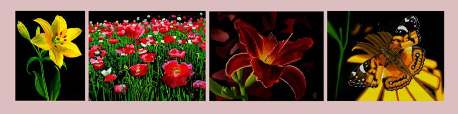 Живопись акварель Флора, flora, растения