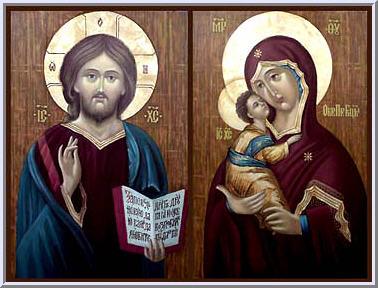 иконы Иисуса и богородицы