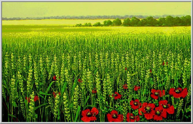 картина зеленая: