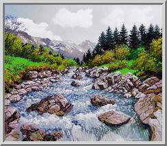 Горная река весной
