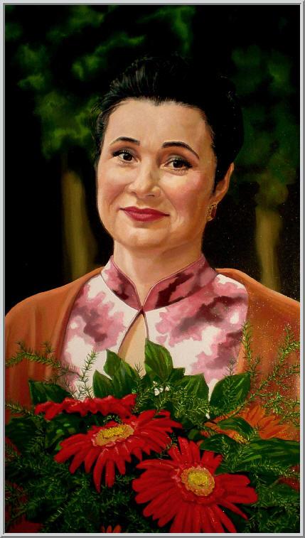 Картина из серии - портрет. Народная артистка солистка Национальной оперы Украины Лидия Забиляста Работа выполнена на холсте маслянными красками