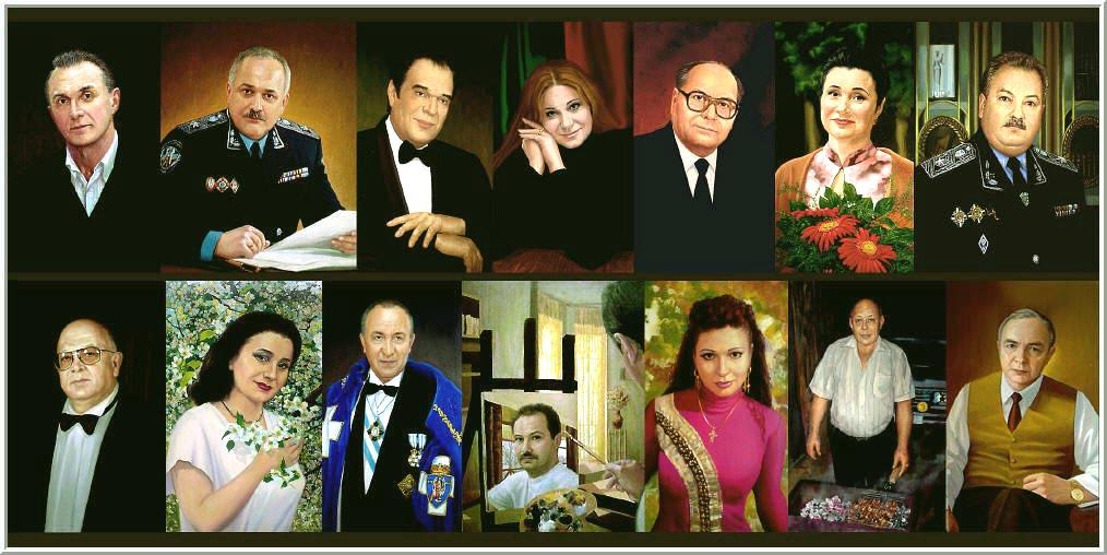 Галерея портретов Портреты изображенные художником на хосте маслянными красками